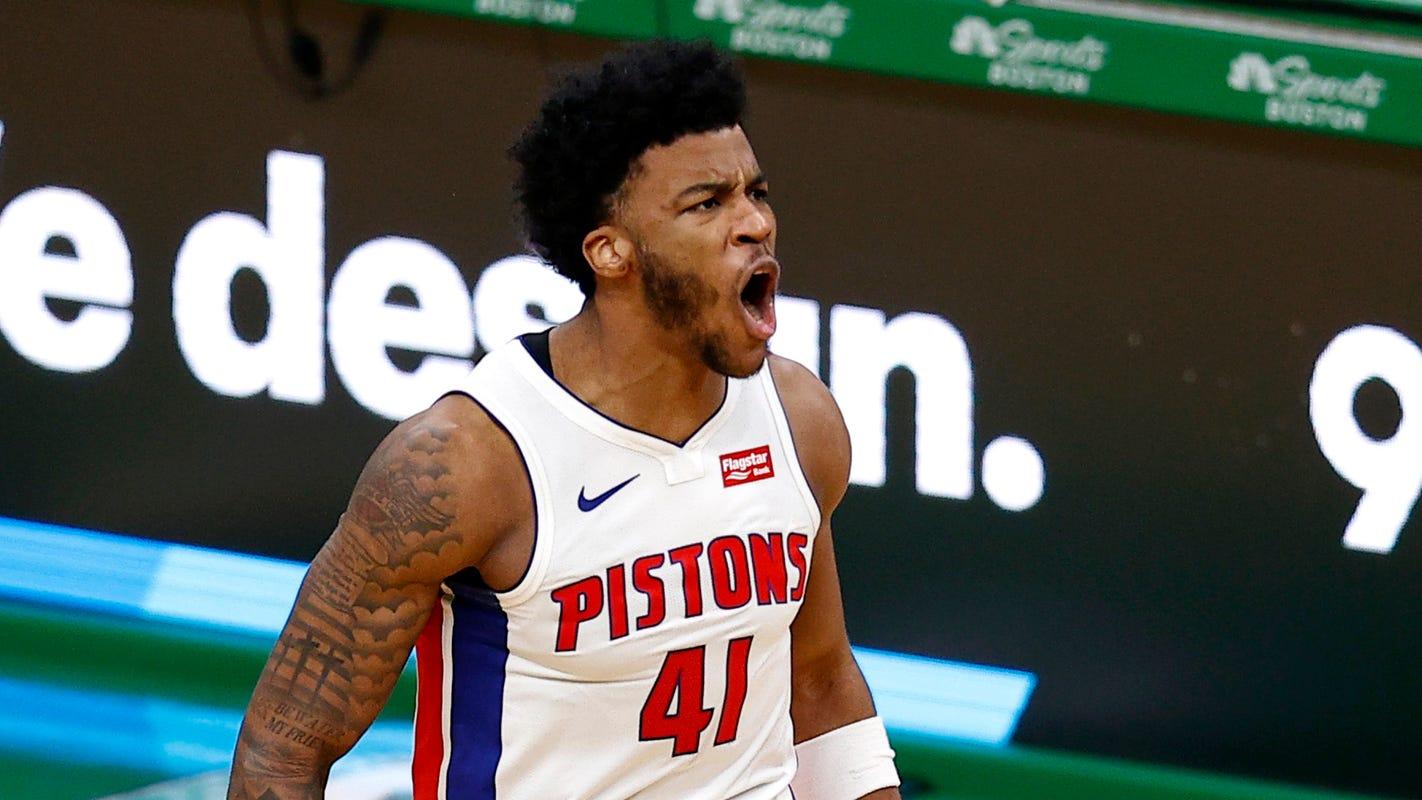 Career night for rookie Saddiq Bey powers Detroit Pistons to victory over Boston Celtics - Detroit Free Press