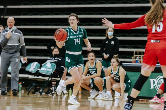 UWGB senior guard Meghan Pingel had eight points, six assists, four rebounds and three steals in a 70-45 win over Illinois-Chicago on Saturday at the Kress Center.