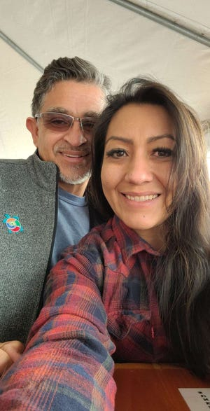 Laura Alvarado pictured with her longtime friend and now boyfriend, Philip Rael.