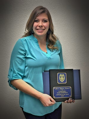 2020 Alamogordo Police Officer of the Year Chyenne Bunker