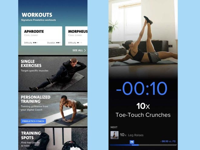 The Freeletics app, available for iOS and Android, uses artificial intelligence, psychology, and sport science to act as your personal trainer in your pocket.