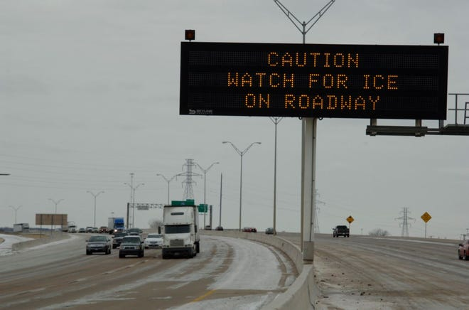 The Texas Department of Transportation in Amarillo is working to treat and clear highways throughout the region as snowfall and ice accumulations are expected through Sunday.