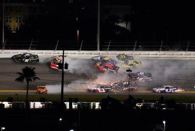 """Big one"" It is a scene often seen in Daytona and Taradega."
