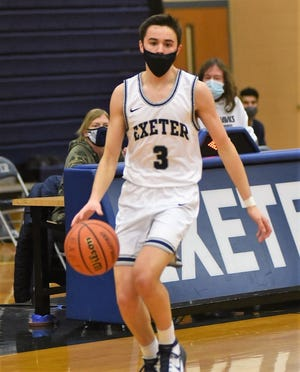 Exeter senior guard Matt McConnell scored 15 points in Saturday's 75-56 win over Trinity.