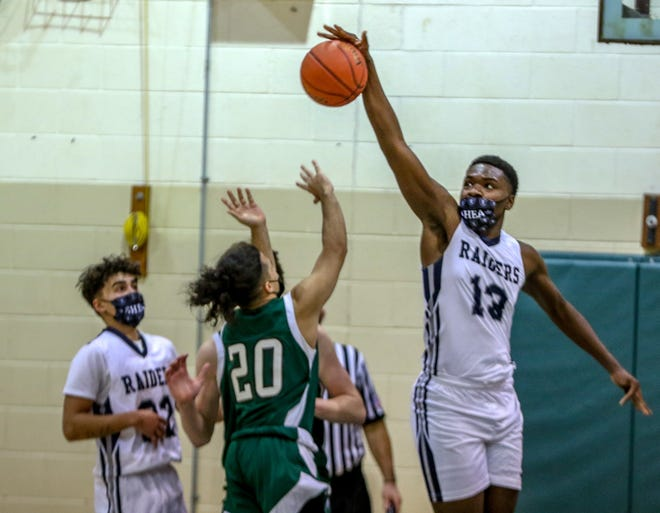 Malik Matanmi and the Shea boys basketball team will travel to Barrington face the Eagles at 2 p.m. Monday.