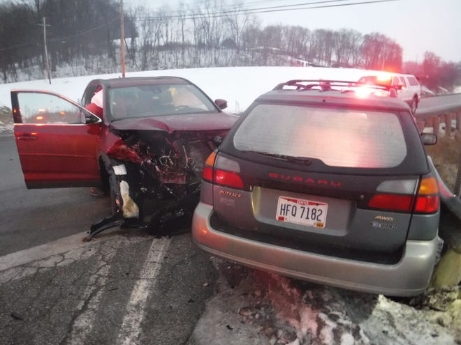 The Ohio State Highway Patrol is investigating a serious two-vehicle crash that took place Saturday in Sandy Township. One of the drivers is in the hospital with life-threatening injuries.
