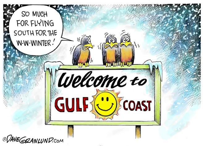 Grandlund cartoons: Frozen south