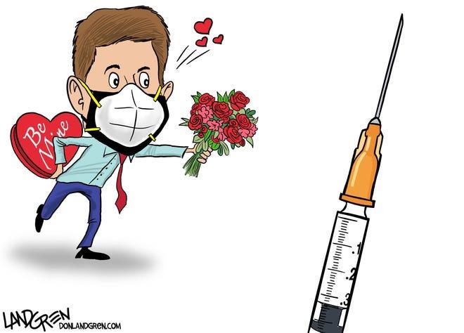Landgren cartoon: Vaccine love