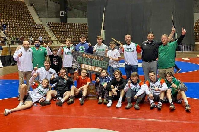 Ashville wrestling won the 1A-4A wrestling state championship Saturday, Feb. 13, 2021, at Garrett Coliseum in Montgomery.