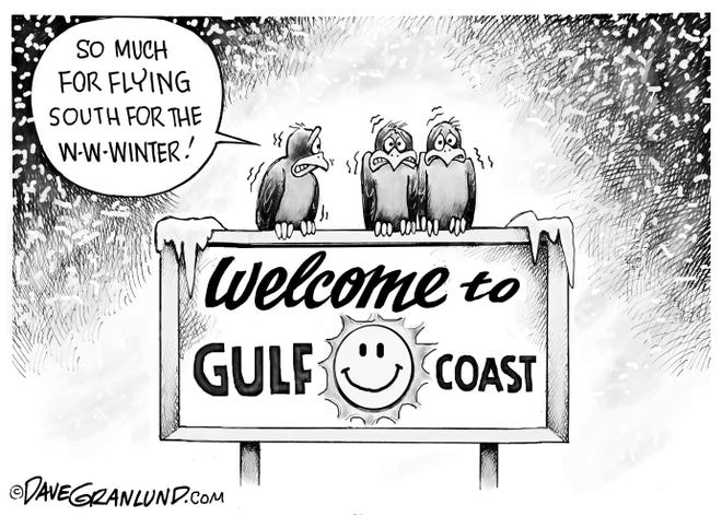 Gulf Coast running a little chilly right now.