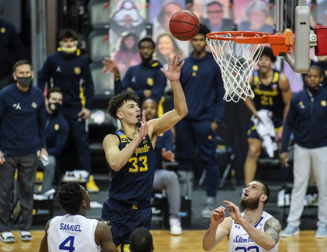 Dawson Garcia averaged 13 points and 6.6 rebounds per game as a freshman at Marquette.