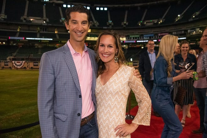 Arizona Diamondbacks GM Mike Hazen and his wife, Nicole.