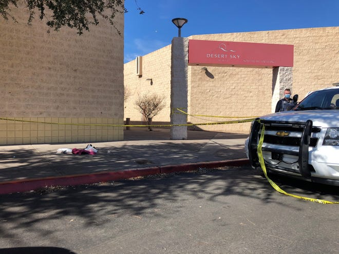 Two were injured after a shooting at Desert Sky Mall on Feb. 14, 2021.