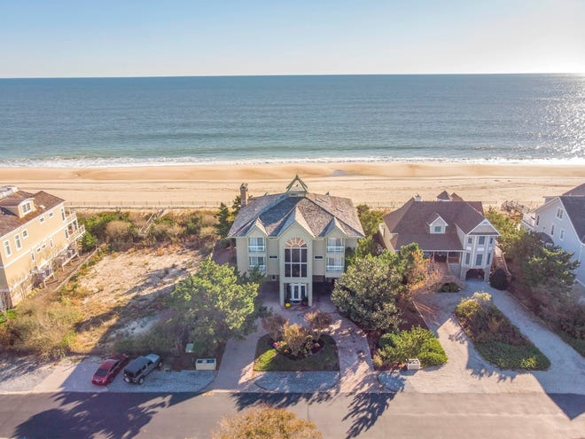 This oceanfront home (center) on Surfside Avenue in Bethany Beach is for sale for $5,590,000.
