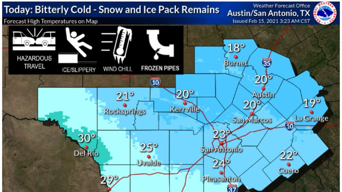 What you need to know about Austin weather Monday: Day 5 of freeze, no rain until Wednesday