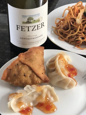 Fetzer's $6.99 Gewurztraminer is the perfect pairing for carryout from the Nepali Kitchen in Akron.