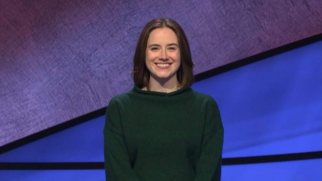 """Karen Ellestad, the chaplain and chair of religious life at Episcopal Day School, appeared on Monday night's episode of """"Jeopardy!"""""""