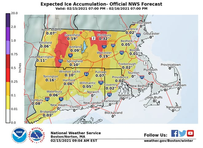 Other parts of the state are looking at a tricky ice forecast for Monday into Tuesday, but we'll likely just see rain on Cape Cod.