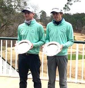 The team of Cheboygan's PJ Maybank III (left) and Athens' (Ga.) Will Baker won the Junior Golf Tour's (JGT) Four-Ball event held in Alabama on Sunday. Over the two-day event, the duo shot a record-breaking 20-under to win by five strokes.