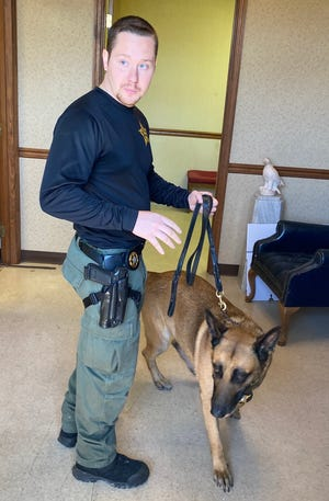 K9 Highway and handler Cpl. Jeremy Abbott participated in the narcotics detection portion of the training event.