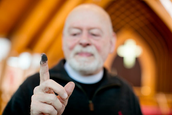 "The Rev. Chris Thompson, of Saint Mark's Episcopal Church in Upper Arlington, said the church sent an ""Ash Wednesday at Home Kit"" to congregants so they could mark the holy day safely during the pandemic."