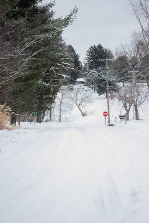 Snow-covered roads made for treacherous travel and closed area schools resulting in calamity days.