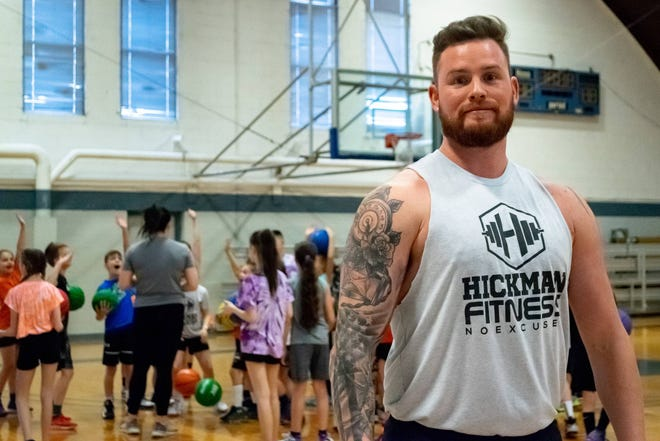Shawn Hickman and his wife, Emily, started Hickman Fitness including fundamental basketball and fitness programs to help area youth stay active. The eight-week programs include basketball on Saturdays and fitness classes on Sundays at the Cambridge Armory.