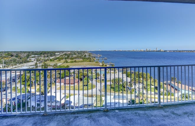 Step out onto the balcony of this 10th-floor condo and enjoy views of the Intracoastal Waterway and the Atlantic Ocean.