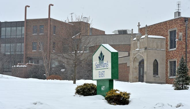 The Saint Mary's East long-term care facility, 607 E. 26th St. in Erie, owned by Saint Mary's Home of Erie, is shown on Feb. 15, 2021.