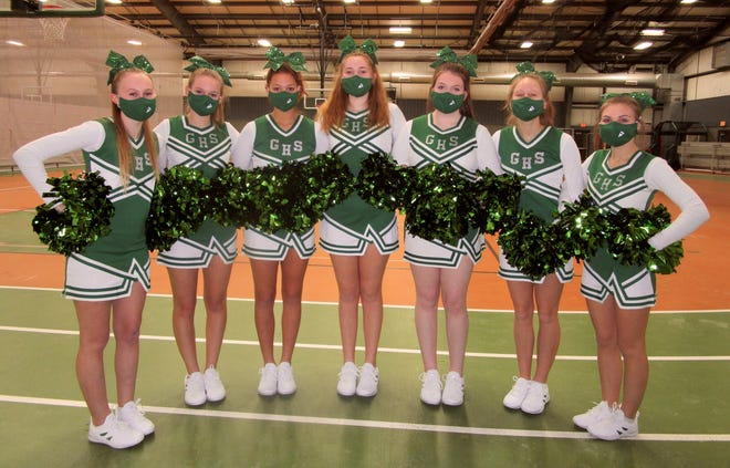 Meet the sophomores on the GHS Cheerleading Squad, from left, Violet Hodgson, Emma File, Zaria Greene, Madie McMahill, Rylie Bauer, Jordyn Sedlock and Brooklyn Powell.