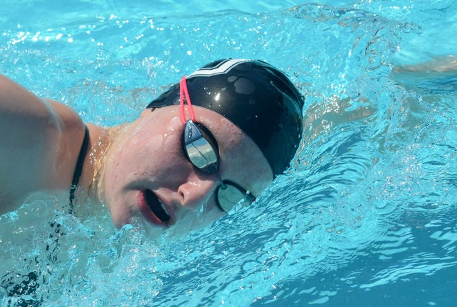 West Ottawa's Lilly Brandt is The Holland Sentinel Girls Swimmer of the Year.