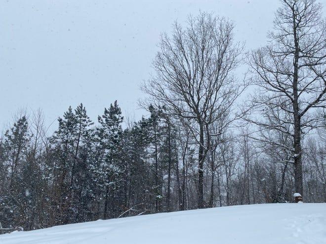 Snow falls in Hot Springs Village