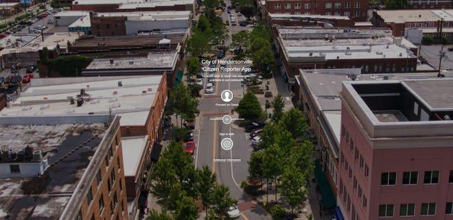 The homepage of Hendersonville's Citizen Reporter website application.