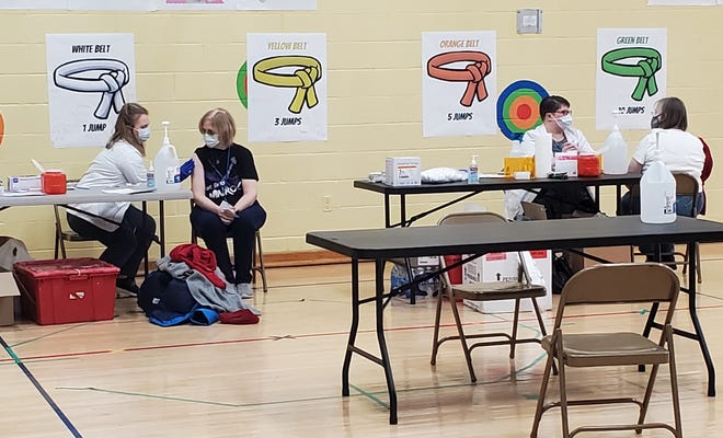 More than 460 staff members with the Twinsburg City Schools received the first of two COVID-19 vaccinations on  Friday.