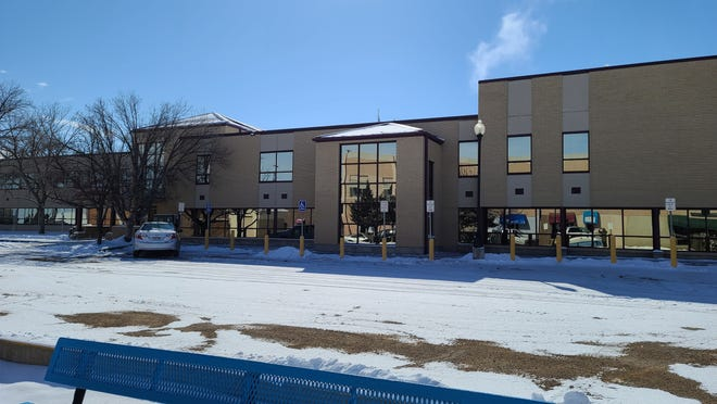 The north parking lot of Otero County Courthouse was sparsely populated as county offices were closed in observance of President's Day.