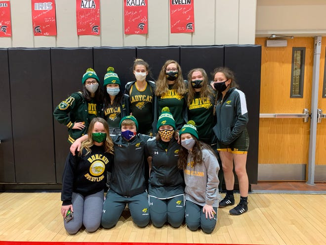Shown is the Basehor-Linwood girl's wrestling team at the girl's regional tournament Saturday at Emporia High School.
