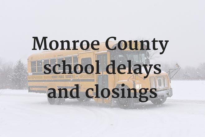 Monroe County school closings snow