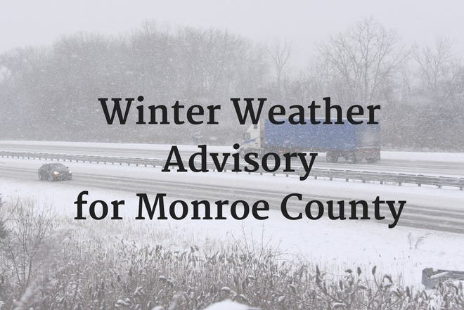 Winter Weather Advisory for Monroe County I-75 view