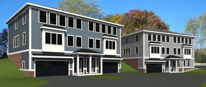 Tuck Realty Corp. is seeking variances to build four two-family homes behind a Middle Street home in Portsmouth.