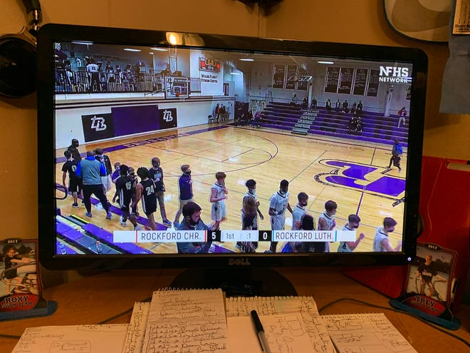 Many of the area schools are using NFHS Network to live stream their girls and boys basketball games, like this one between Lutheran and Rockford Christian earlier this season.