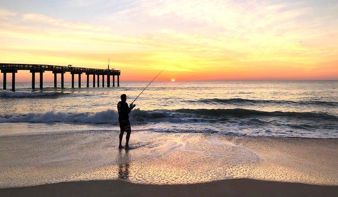 Sunrise on St. Augustine Beach.