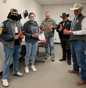 Representatives from the Stephenville High School National Honor Society stopped by the Erath County Sheriff's Office on Friday and dropped off Valentine's Day treats. In addition to the sheriff's office, the NHS students also dropped off treats to the Stephenville Police Department and Stephenville Fire Department.
