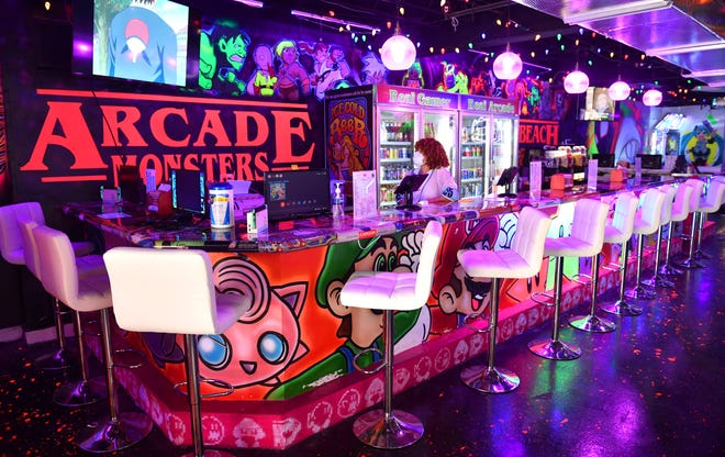 Arcade Monsters, a restaurant, bar and arcade has opened at 326 John Ringling Blvd. on St. Armands Circle in Sarasota. The bar at Arcade Monsters offers specialty drinks, wine, shots, and beer.