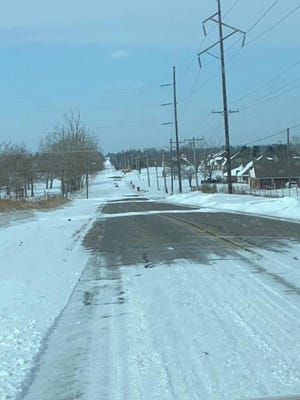 Roads are slick in Pottawatomie County, including this area of 45th and Acme Road. PROVIDED