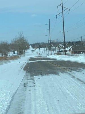 Roads are slick in Pottawatomie County.