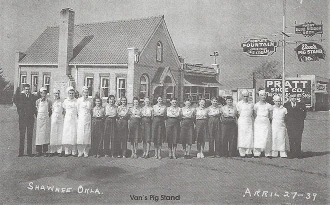 By April of 1939, VAN'S PIG STAND was celebrating its ninth anniversary. It was one of the most popular eating and dance halls in the city at that time. The dances were held in the basement and received a few complaints about the noise and disorderly conduct. Most of the dance halls in town received the same complaints.
