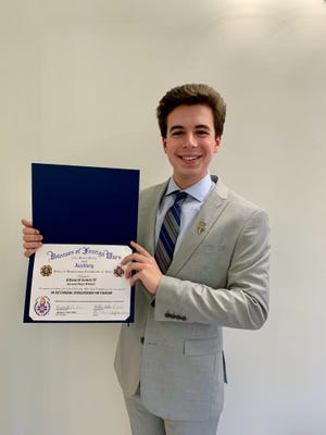 Edward Gonet IV, of Fairhaven, was awarded 2nd place in the annual Massachusetts VFW Voice of Democracy Scholarship Competition.