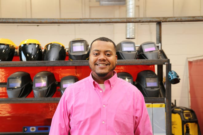 Craven CC student Kishaun Chadwick works at global manufacturer Chatsworth Products. He credits the college's welding program at the Volt Center for putting him on the road to success. [CONTRIBUTED PHOTO]