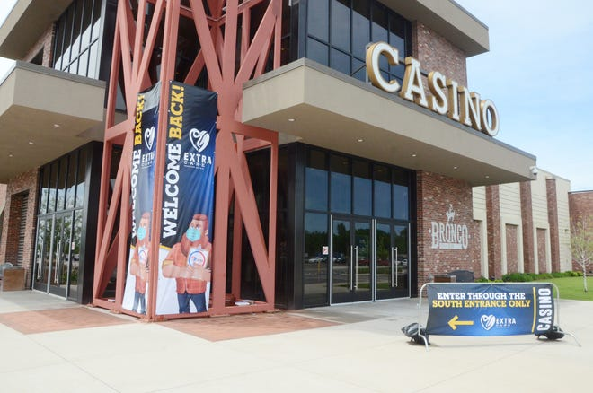 "Kansas Crossing Casino reopened last May with new ""Extra Care"" coronavirus precautions following the statewide lockdown that started in March."