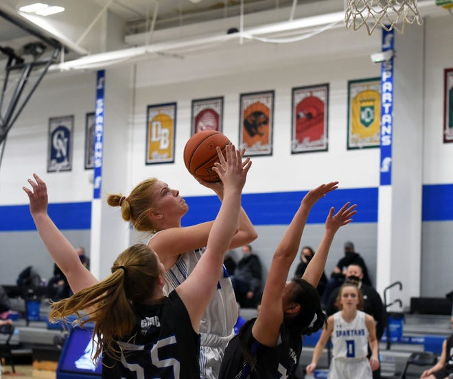 Reagan Franzen reached the 1,000-career point mark for the No. 12 Collins-Maxwell girls' basketball team in a 55-22 victory over GMG during the Class 1A regional first round Feb. 11 at Maxwell.